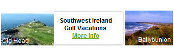 Southwest Ireland Golf Vacations Packages 2012
